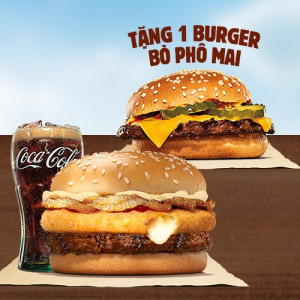 Tặng Burger Bò Phô Mai