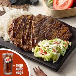 Combo Cơm bò nướng sốt BBQ