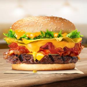 Burger bò khoai giòn tràn phô mai (bánh lớn) - promotion