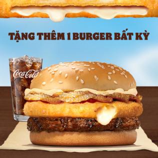 Burger Siêu Nhân Phô Mai Bò Deluxe + Nước