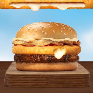 Burger Siêu nhân phô mai bò Deluxe (cỡ vừa)