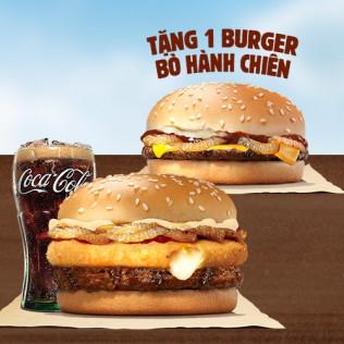 Tặng Burger Bò Hành Chiên