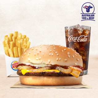 Combo Burger Bò Nướng Hành Chiên