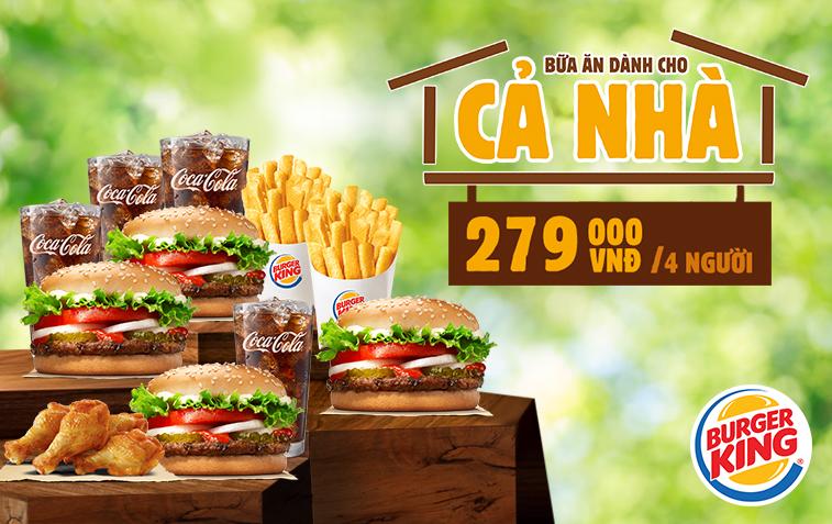 Ưu đãi Bữa Ăn Dành Cho Cả nhà từ Burger King